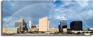 Midland skyline_rainbow