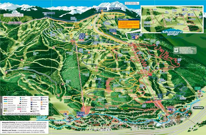Vail Mountain Bike Route Map