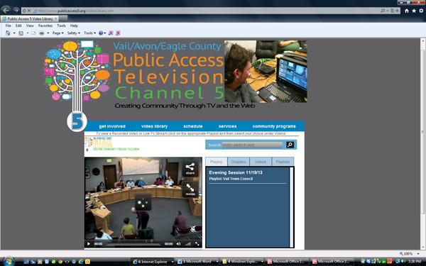 Public Access TV Web Page