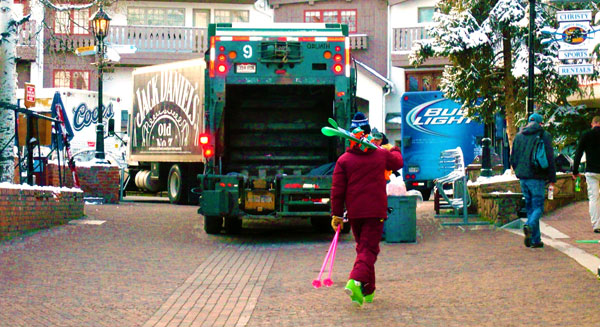 Delivery Trucks on Bridge Street