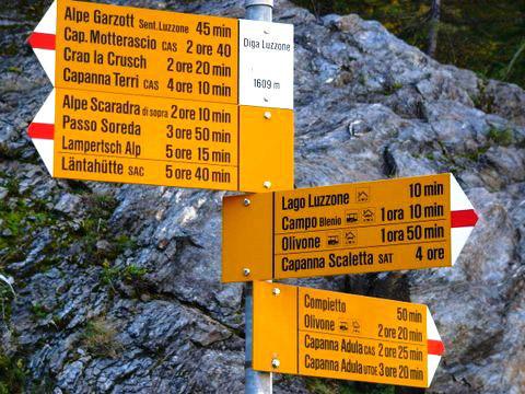 European Hiking Signs