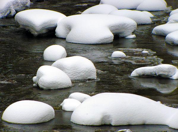 Snow on Gore Creek