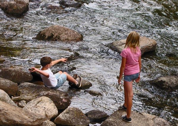 Kids By Gore Creek
