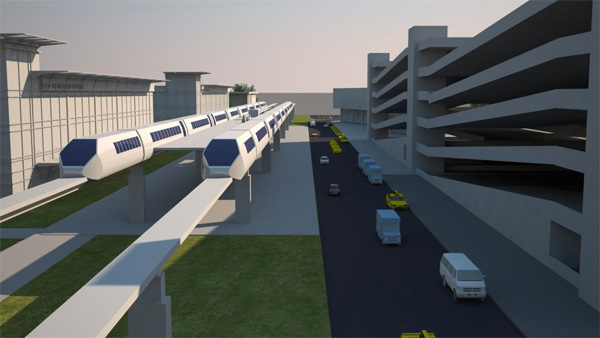 How some envision what will develop around Mag-lev Stations