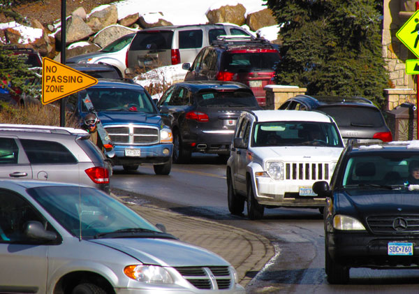 Vail Valley Drive Traffic