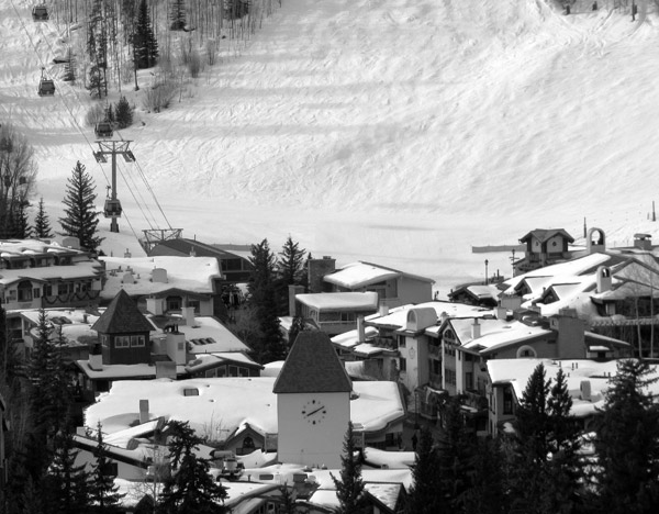 Vail Village Black and White