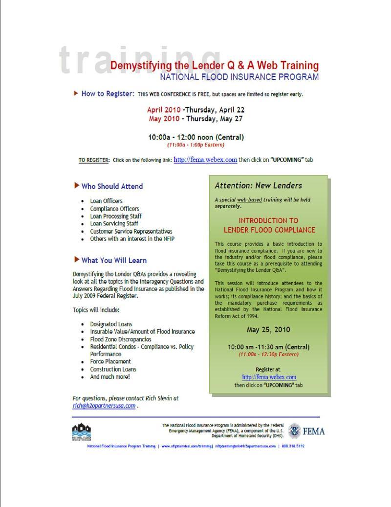 FEMA Seminars