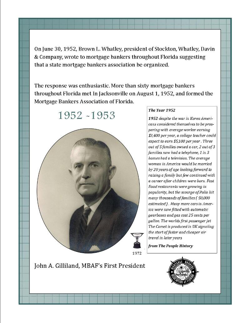 Past pres history page