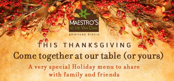 This Thanksgiving come together at our table or yours.