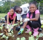 CIS students in Winterfield Community Garden