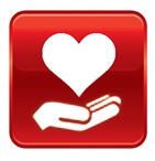Hand-heart volunteer icon