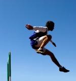 hurdle jumper stock image