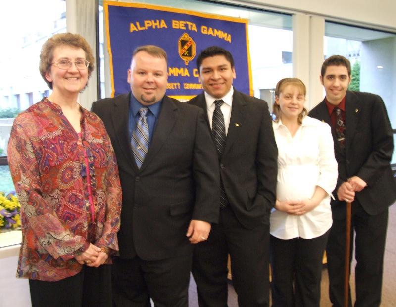 ABG officers and advisor Linda Bolduc