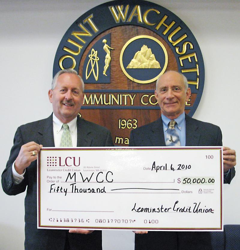 LCU President & CEO Gordon R. Edmonds and MWCC President Daniel M. Asquino