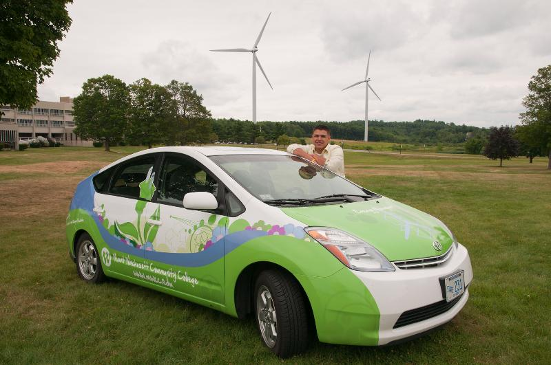 Zak Stoddard and MWCC's Prius