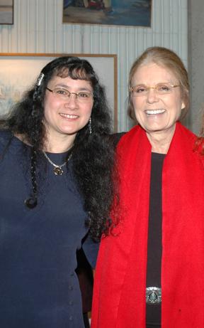 MWCC student Linda Patterson & Gloria Steinem