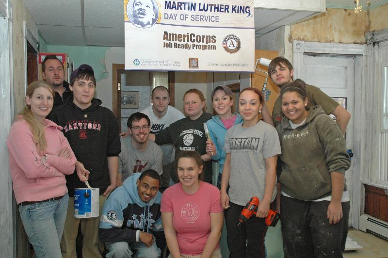AmeriCorps members volunteering at HOPE