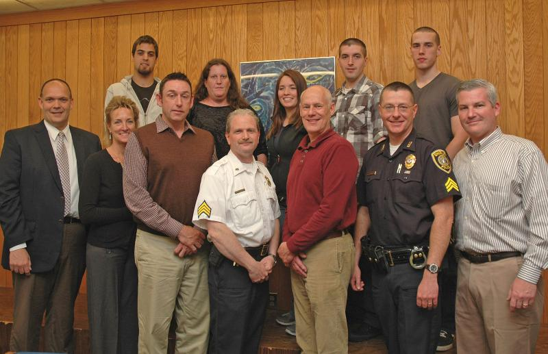 Law Enforcement officials with CJ Majors