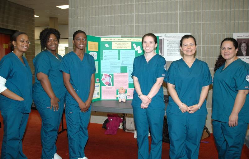 Nursing students at MWCC
