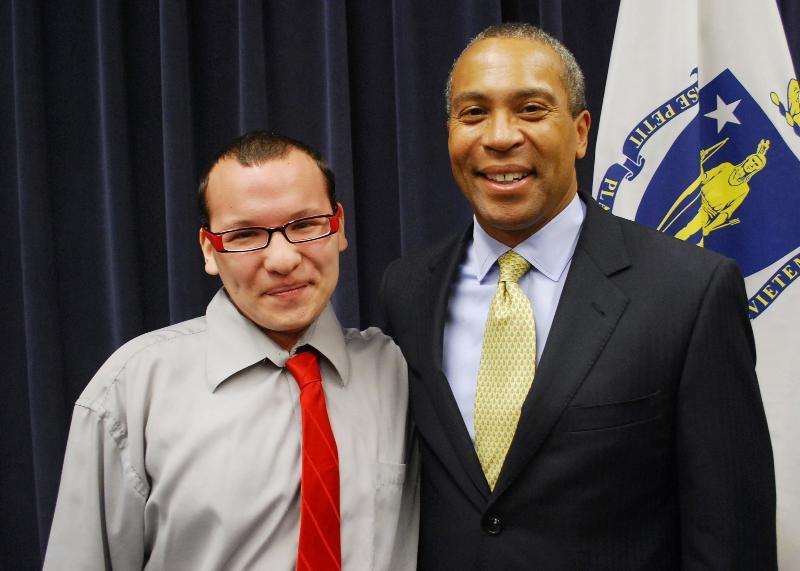 Joe Benavidez and Governor Patrick