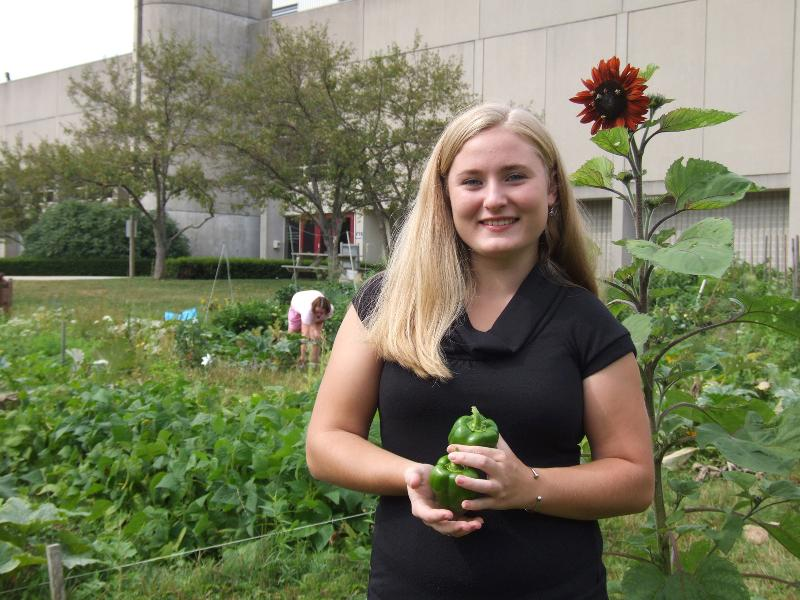 Community Garden coordinator Amanda Dettloff