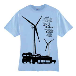 T-shirt wind turbine