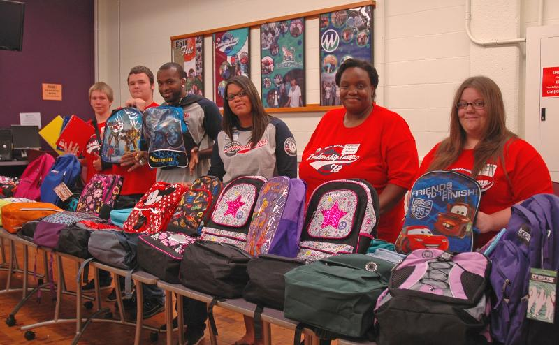 Leadership Camp 2012 backpack drive