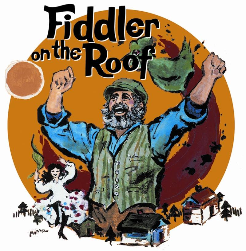 Logo of Fiddler on the Roof featuring Tevye, the main character
