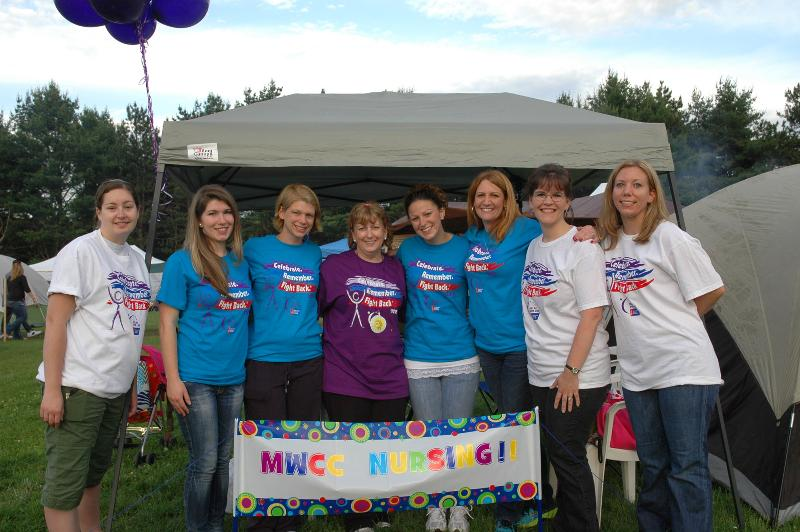 Members of the MWCC Nursing Dept. Relay Team