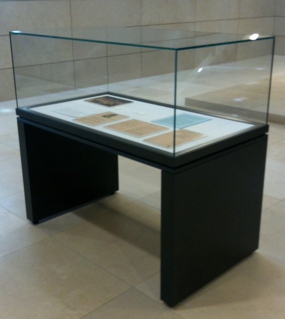 Exhibit Case in Library Lobby, Main Level