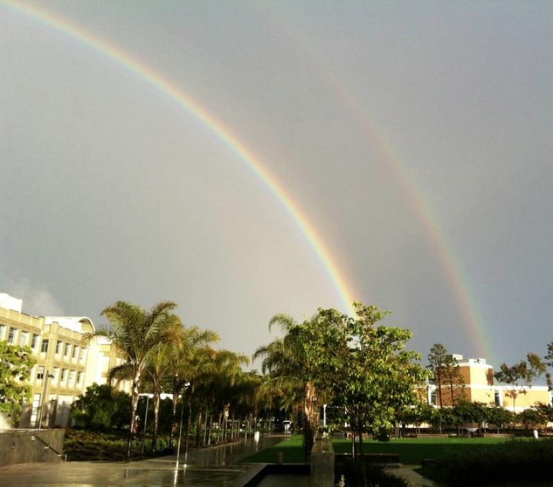 Double rainbow over LMU campus