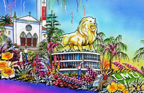 LMU Rose Parade Float rendering