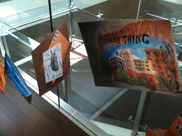Senior Art on Display on Library Third Level