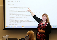 Elisa Acosta at SURP workshop