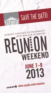 Reunion Weekend 2013 Save the Date Logo