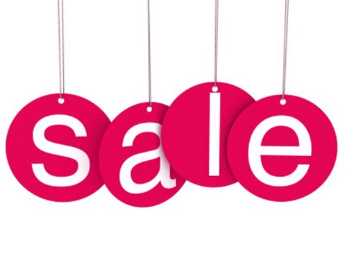 pink sale sign