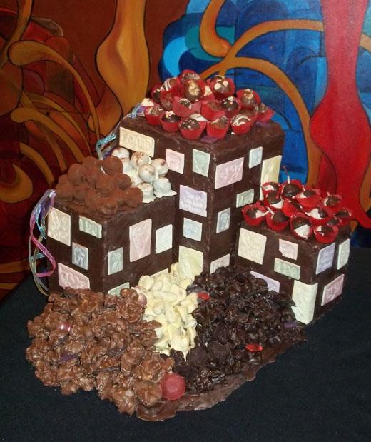 affair de chocolate display