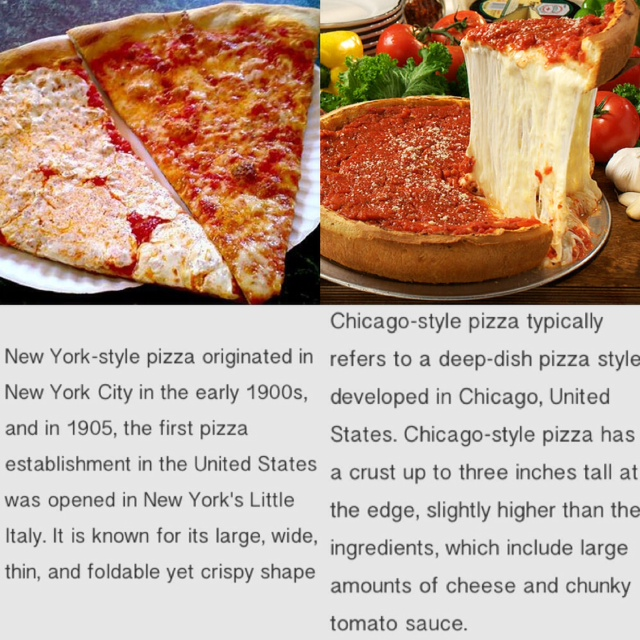 New York Style Pizza vs. Chicago Style Pizza - Vote Now!