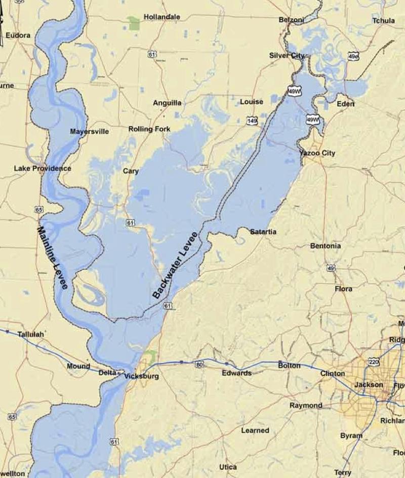 Delta Flood Map