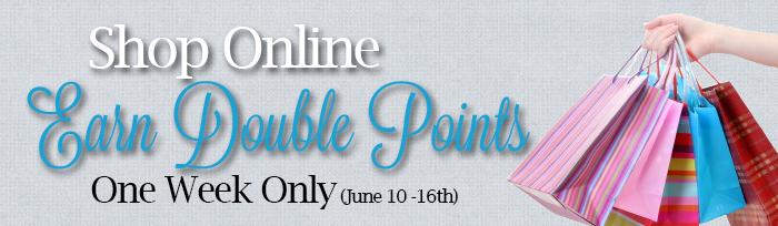 Earn Double Points