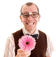 Geek with Flower