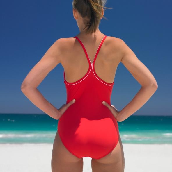 Swimmer at Beach