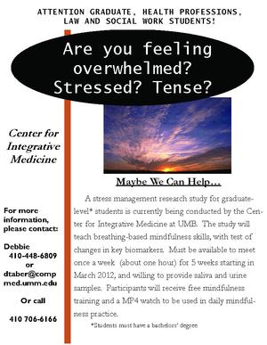 Center for Integrative Medicine - Stress Management