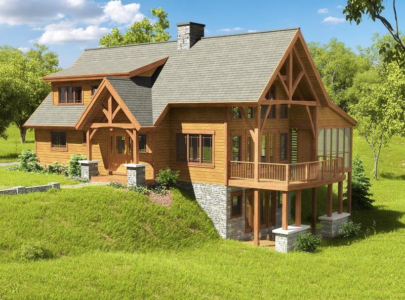 pre designed timber frame homes the slaterun is a great choice for a