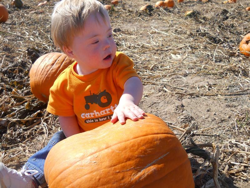 Josh and the pumpkin