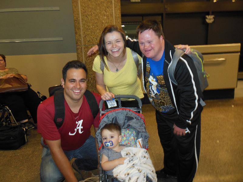 David Lisa and family at airport