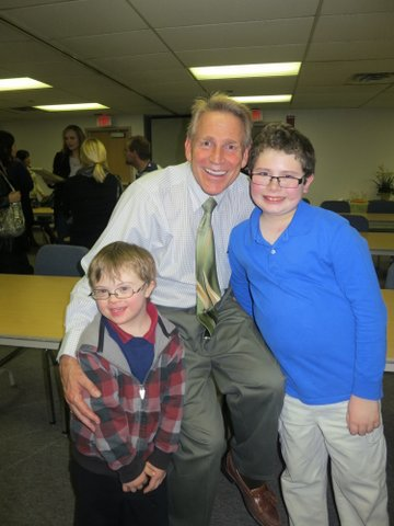 Michael Remus with Brian G. and his big brother