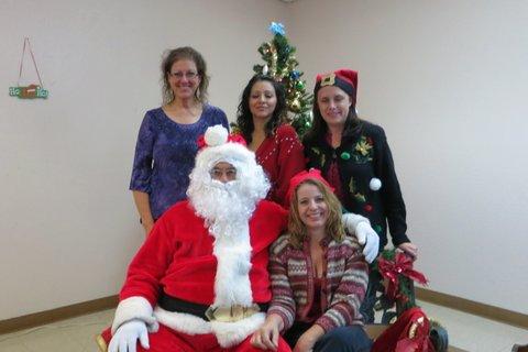 Westside leaders with Santa