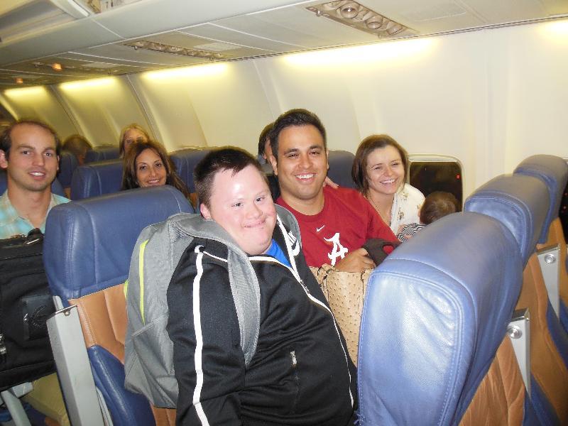 David on Plane