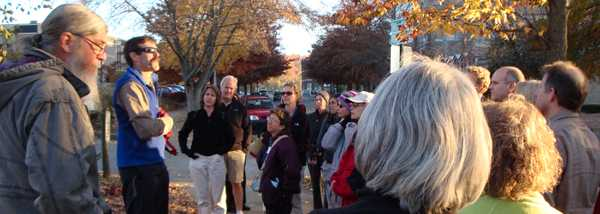 Asheville, NC Walking Expert Mark Fenton leads a community assessment.